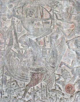 ガルーダに乗ったヴィシュヌ神