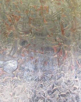 不老不死の媚薬「アムリタ」を巡って戦うヴィシュヌ神(北面西)
