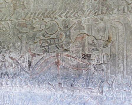 こちらもヴィシュヌ神と阿修羅の戦い(東面北)
