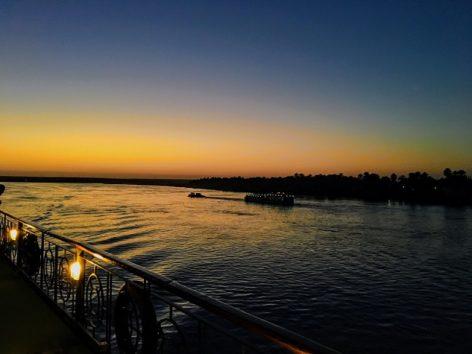 素晴らしいナイル川クルーズ(Photo by 朝比奈)