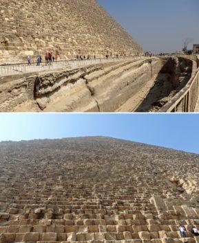 クフ王のピラミッド、その大きさにただ圧倒される(Photo by 朝比奈)