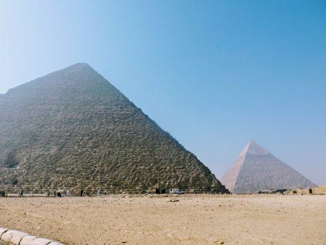 幼い頃からの夢、ピラミッドへ(Photo by 朝比奈)