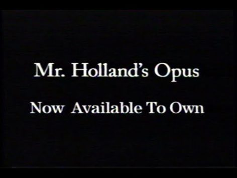 画像:2016/07/20 公開YouTube『retro VHS trailers/Mr. Holland's Opus (1995) Trailer (VHS Capture)』