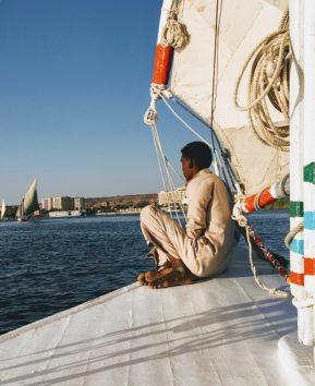 憧れの帆掛け船「ファルーカ」を体験(Photo by 朝比奈)