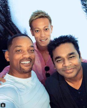 右手前はインド人作曲家A.R.Rahmanさん