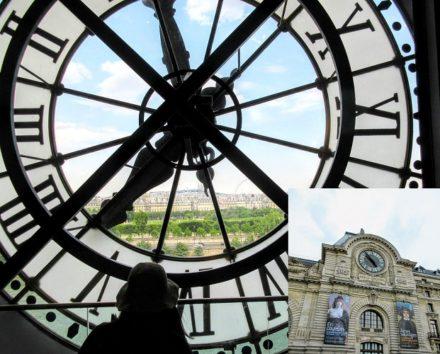 オルセー美術館の時計を裏から(Photo by 朝比奈)