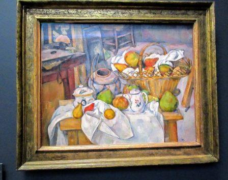 台所のテーブル/籠のある静物(ポール・セザンヌ)