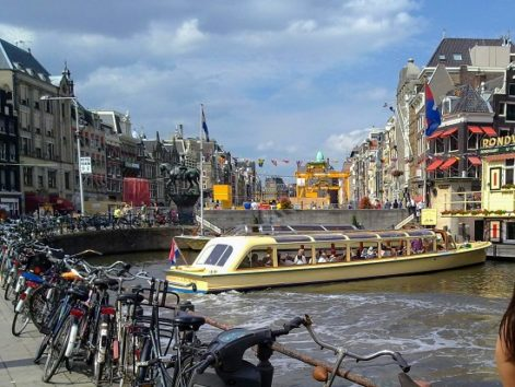 アムステルダムは可愛らしい街