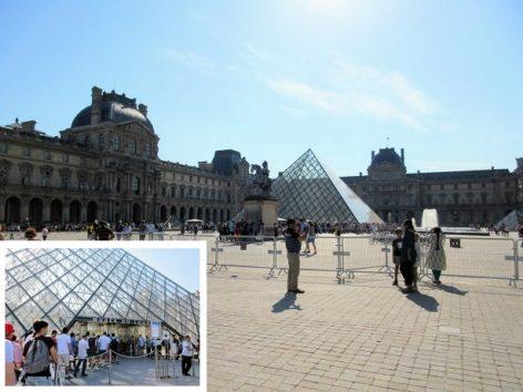 ルーブル美術館入口はガラスのピラミッド(Photo by 朝比奈)