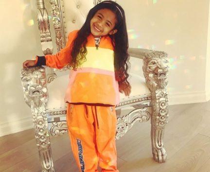 クリス・ブラウンの娘ロイヤルティちゃん、もう4歳!
