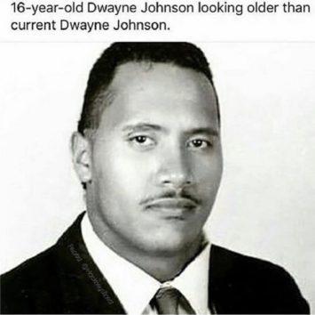 16歳の頃のドウェイン。