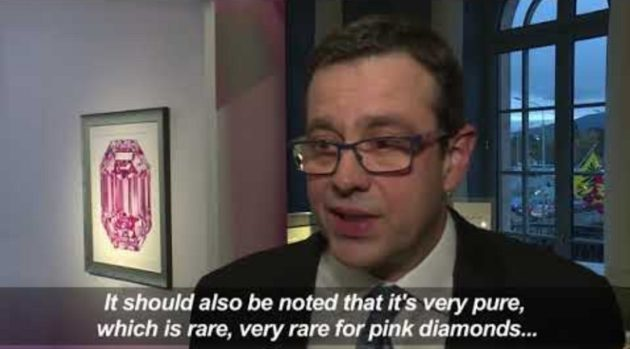 画像:2018/11/11公開YouTube『Rappler-Rare pink diamond aims to make $50 million』のサムネイル