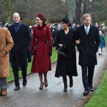一緒に歩くウィリアム王子夫妻&ヘンリー王子夫妻。