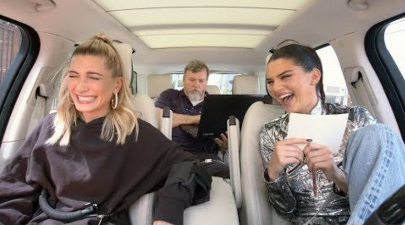 画像:2018/10/15に公開YouTube『The Late Late Show with James Corden- Carpool Karaoke: The Series - Kendall Jenner & Hailey Baldwin Take a Lie Detector Test』のサムネイル