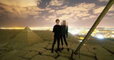 画像:2018/12/08に公開YouTube『Andreas Hvid - Climbing the Great Pyramid of Giza』のサムネイル