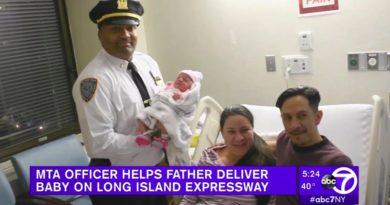 マンハッタンに向かうトンネル内で急な出産