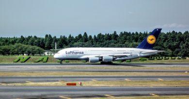 ルフトハンザ航空のエアバスA-380 @成田空港