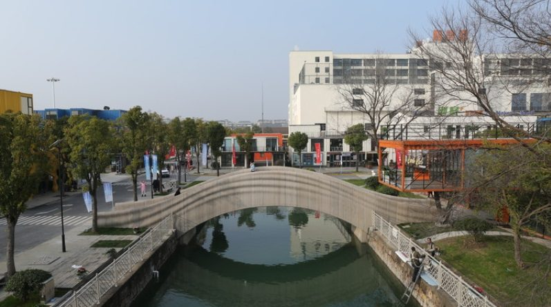 3Dプリンターの技術で上海市に26メートルもの橋が完成