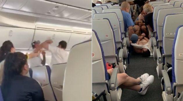 上空で酒癖の悪い男が暴れたため、機長は緊急着陸を決定
