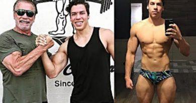 画像:2019/01/30に公開YouTube『Stronger Than The World-Arnold Schwarzenegger's Son Workout & Training 2019 - Like His Dad』のサムネイル
