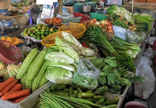 タイ料理には欠かせない野菜ばかり(Photo by 朝比奈)