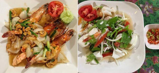 タイ料理はシーフードと野菜がてんこ盛りです(Photo by 朝比奈)