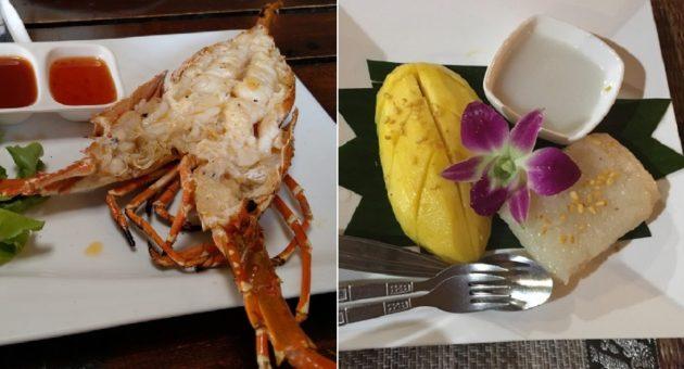 エビ料理はここのイチオシ、デザートはココナッツシロップ掛けのパパイヤ餅(Photo by 朝比奈)