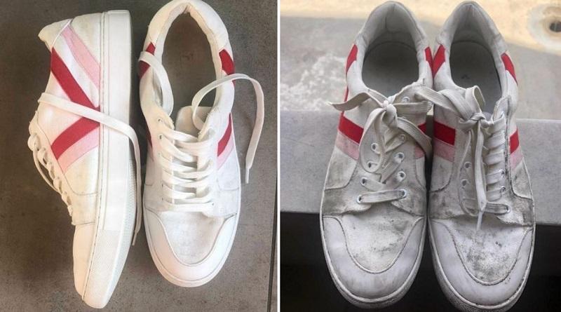白いスニーカーが汚れたら、入れ歯洗浄剤で洗おう!