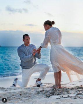 ジェニファー・ロペスと婚約したてのアレックス・ロドリゲス。