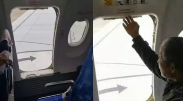 画像:『shanghaiist』Impatient passenger opens plane's emergency exit after landing, looking to bypass queue