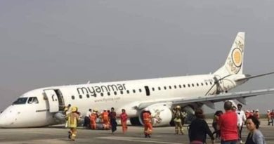 画像:『COCONUTS YANGON』Myanmar pilot lands plane with no front wheels as landing gear fails(Photo:Twitter)