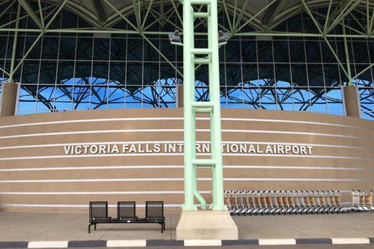 なかなか大きかったヴィクトリアフォールズ国際空港(Photo by 朝比奈)