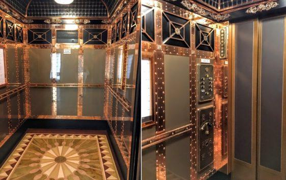 ゴージャスなハロッズのエレベーター