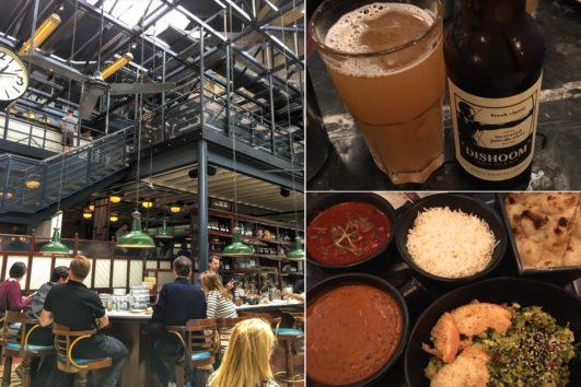 地ビールもカレーも美味しかった!(Photo by 朝比奈)