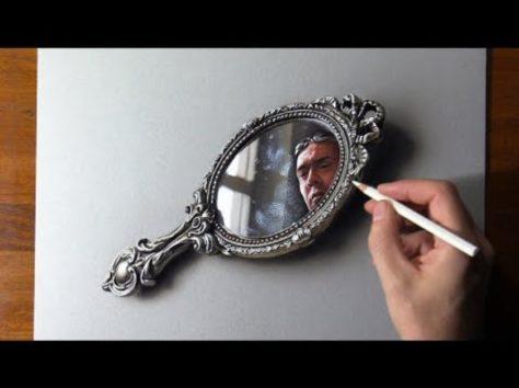 画像:2019/11/27に公開『YouTube』Marcello Barenghi―50歳の誕生日の『自画像』のサムネイル