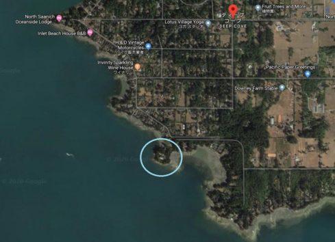 あっという間につき止められてしまった一家の住まい(画像:Google Mapのスクリーンショット)